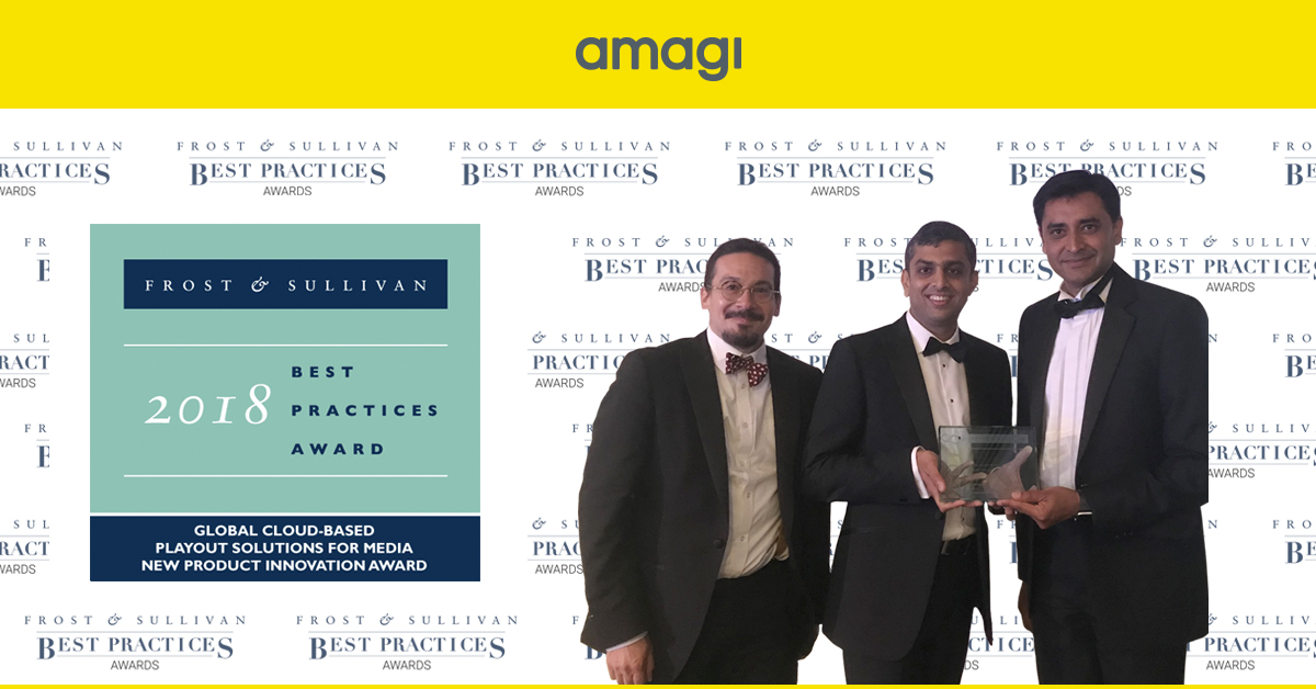 Amagi receives Frost & Sullivan's Global New Product Innovation Award for CLOUDPORT