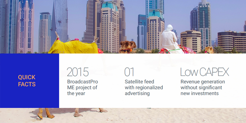 NDTV monetized the middle east market without creating additional satellite feeds
