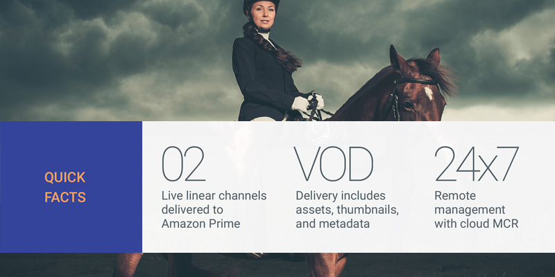 Horse & Country delivering linear and VOD content to Amazon Prime Video