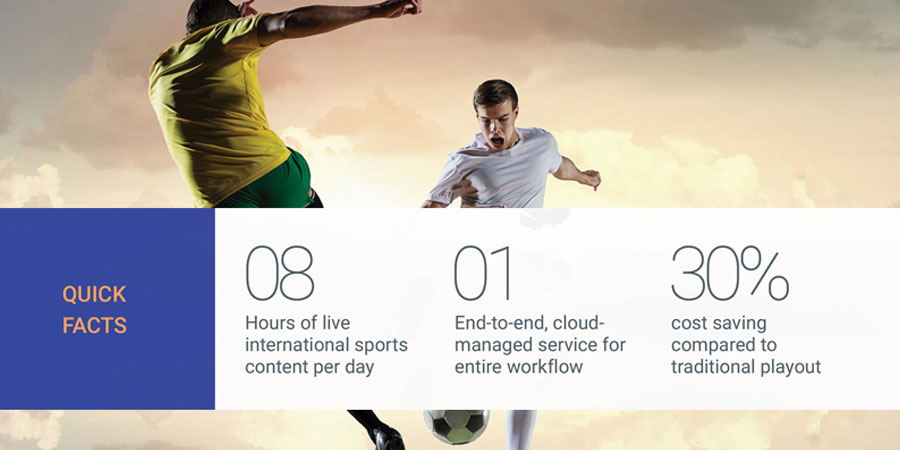 Premium live sports channel fully managed on cloud